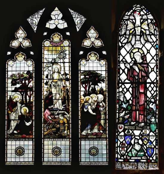 St. Andrew's Edburton East Window plus St. Francis