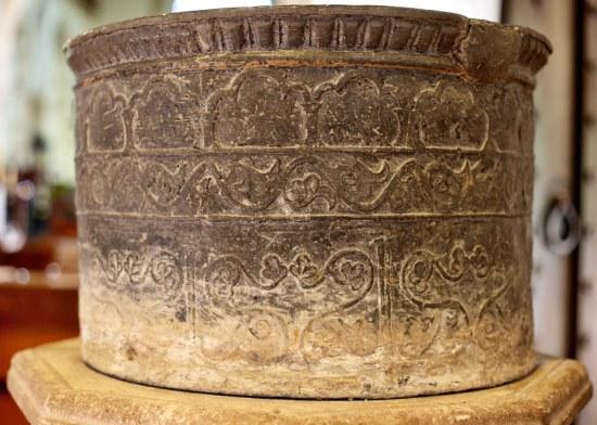St. Andrew's Edburton The font detail