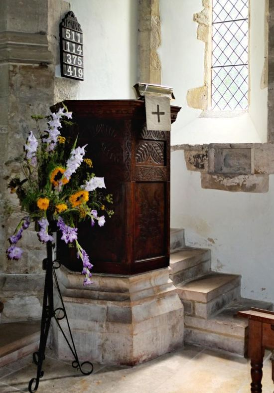 St. Andrew's Edburton The pulpit