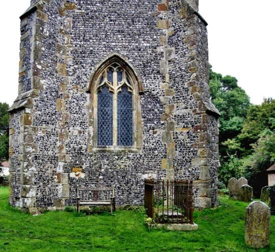 St. Andrew's Edburton Tower west window