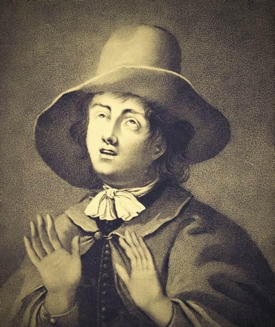 George Fox, founding Quaker, in 1654