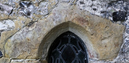 St. Andrew's Edburton chancel window arch