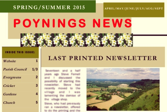 Poynings News Spring Summer 2015
