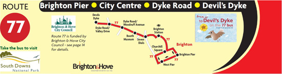 Banner for Bus from The Dyke to Brighton