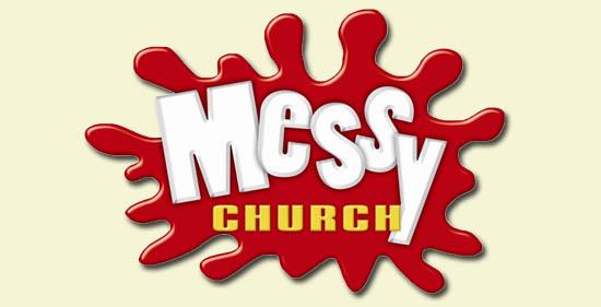 Messy Church Logo - text on red blob