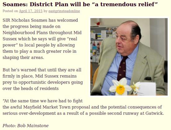 Nicholas Soames on the MSDC Plan