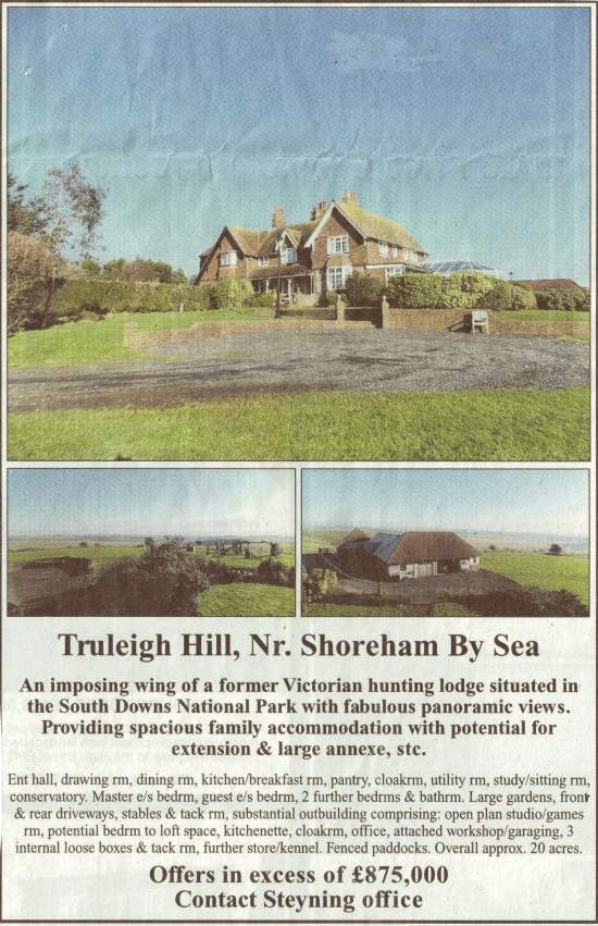 Freshcombe Lodge on Truleigh Hill above Edburton