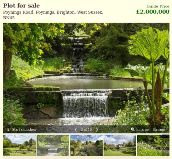 The garden at Downmere in Poynings