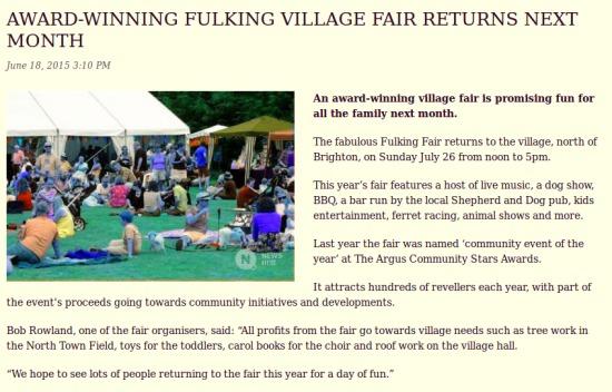 Fulking Fair 2015
