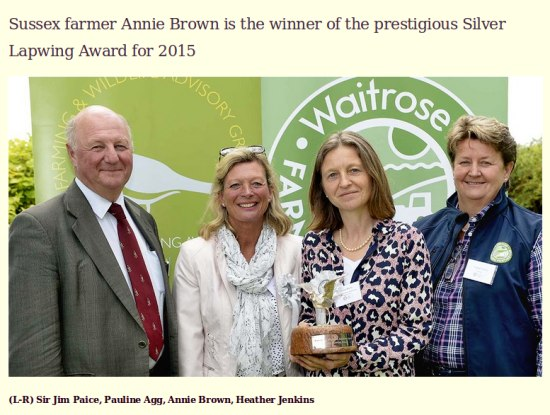 Fulking farmer Annie Brown bags lapwing