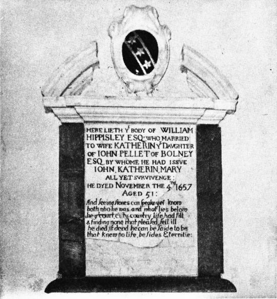 The Hippisley Memorial following restoration in 1958 by F.A. Howe