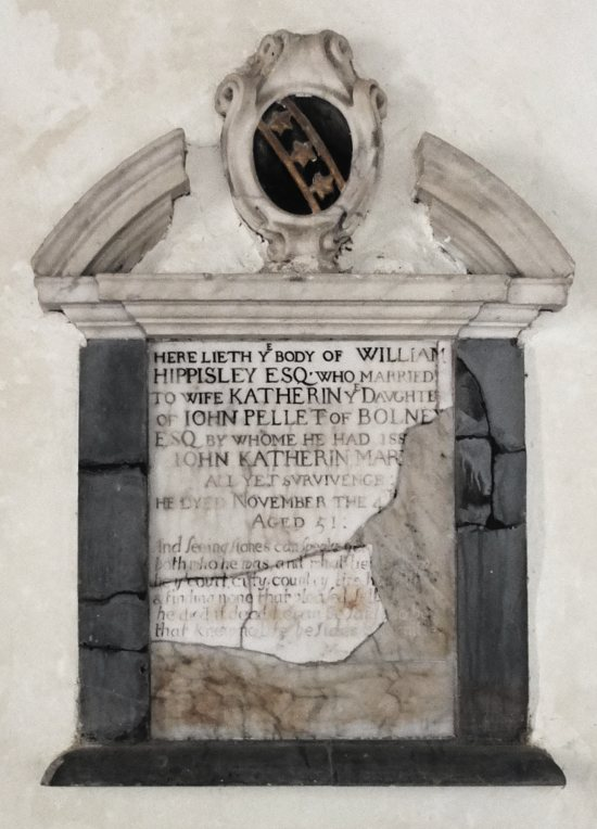 William Hippisley memorial St. Andrew's Edburton
