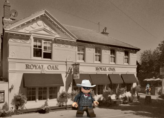 The Lone Ranger leaves The Royal Oak at Poynings