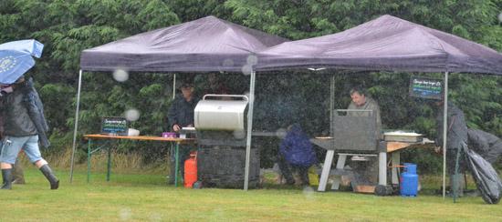 Fulking Fair BBQ in the rain