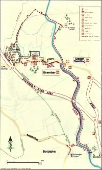 Walk for All map Bramber