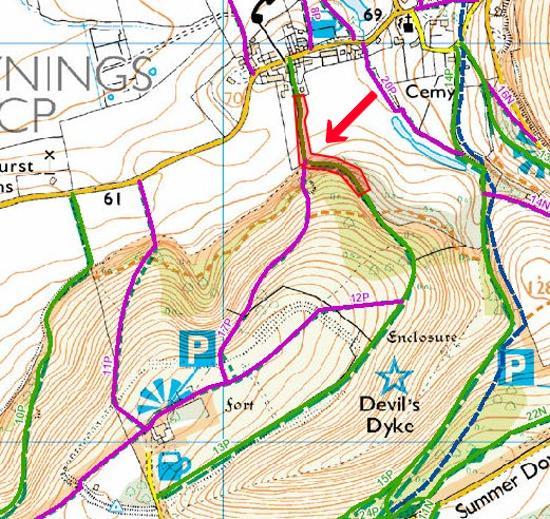 BW13P Poynings bridleway closure