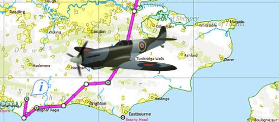 Battle of Britain Day Flypast route