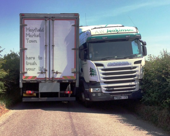 Lorries on Hickstead Lane