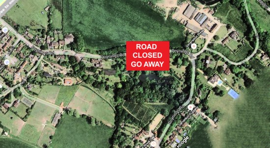 Poynings Road closure 2-6 November 2015