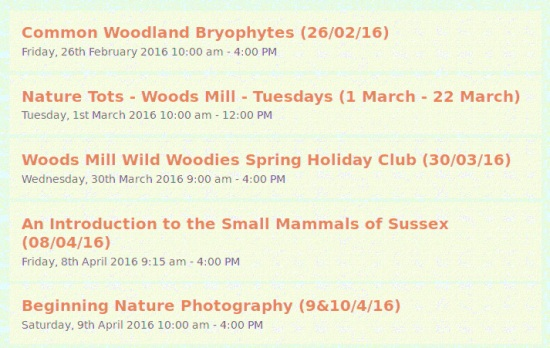 Woods Mill events