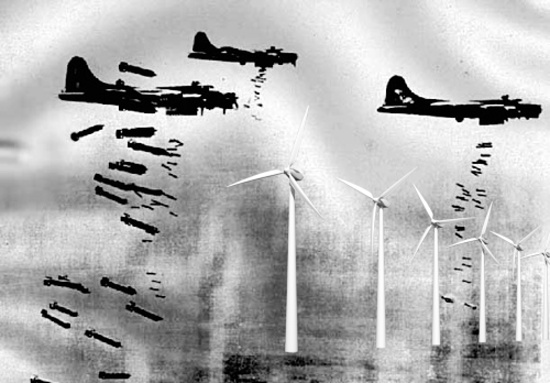 Luftwaffe attack Rampion wind farm