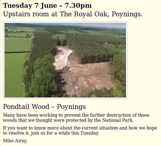 Pondtail Wood information meeting