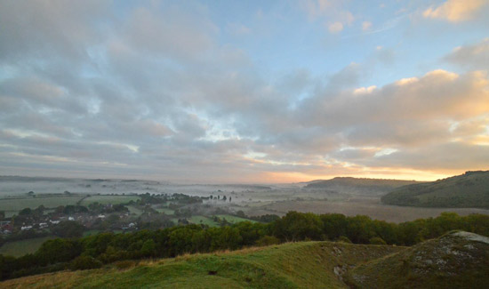Sunrise over the Downs - Miles Firth