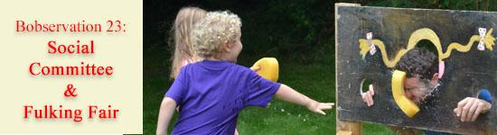 Boy throwing sponge at father, plus Bobservation 23 title