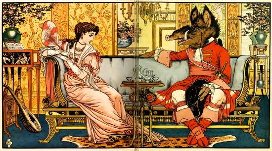 Edmund Evans Beauty and the Beast