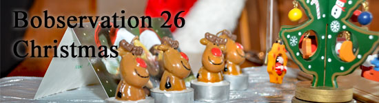 Christmas table decorations - header for Bobservation 26