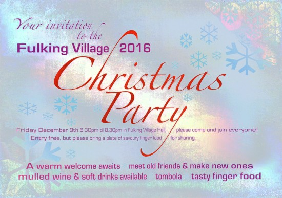 Fulking Village Christmas Party 2016