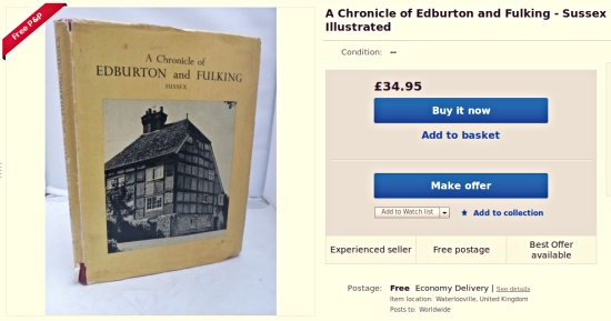 F.A. Howe 1958 A Chronicle of Edburton and Fulking