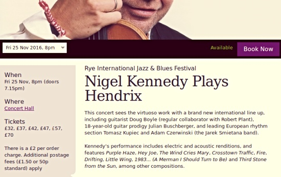 Nigel Kennedy at The Dome, Brighton