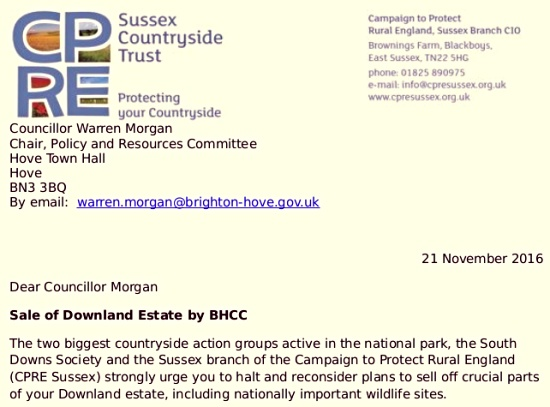 Sale of Downland Estate by BHCC