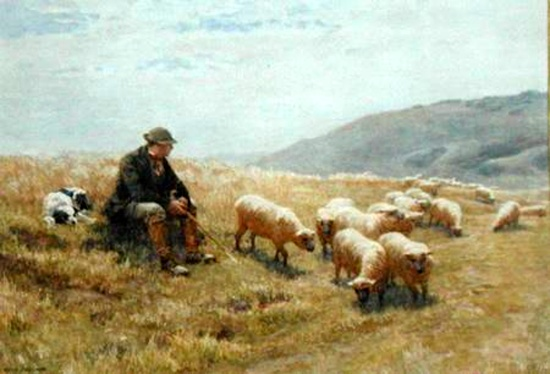 A shepherd on the South Downs