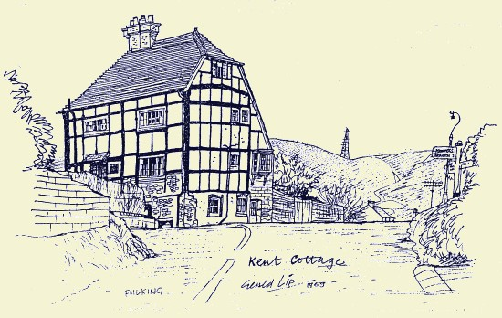 Kent Cottage, Fulking, 1969, by Gerald Lip
