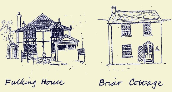 Fulking House and Briar Cottage, Fulking, 1987, Stuart Milner