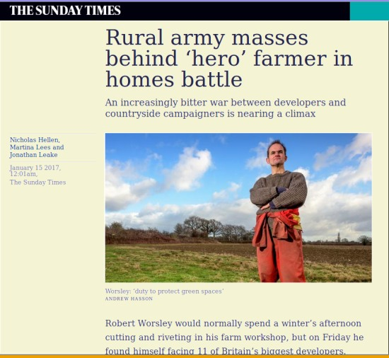 Robert Worsley in the Sunday Times