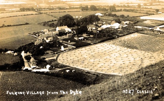 Fulking Village from The Dyke No 27 Classic