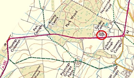 Poynings defibrillator map 2