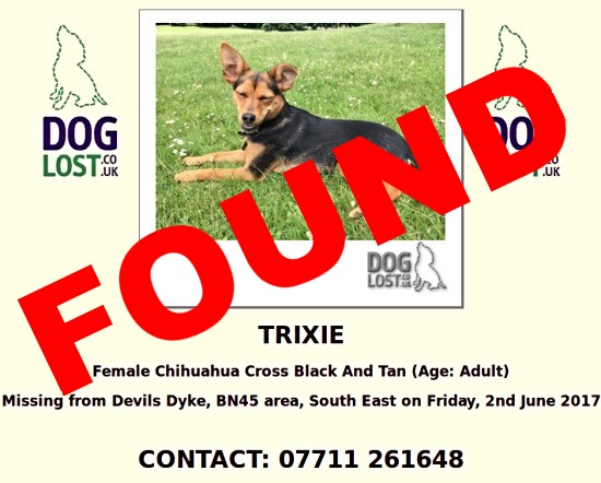 Trixie now found
