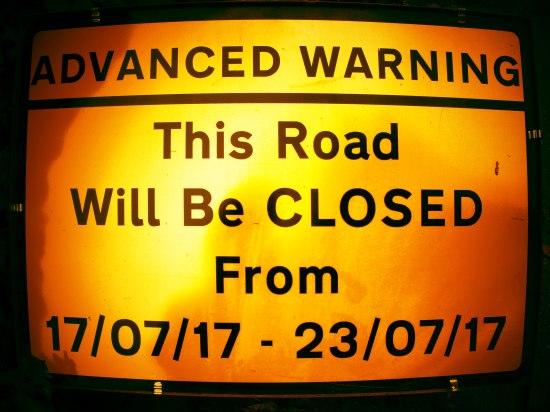 Clappers Lane closure