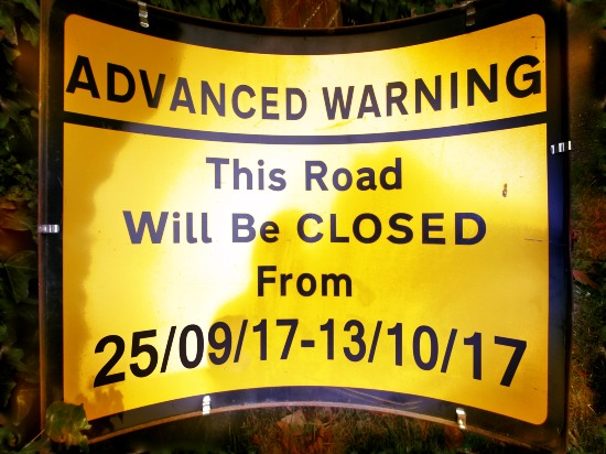 Clappers Lane autumn closure