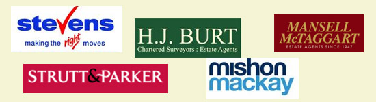 Banner with estate agents logos