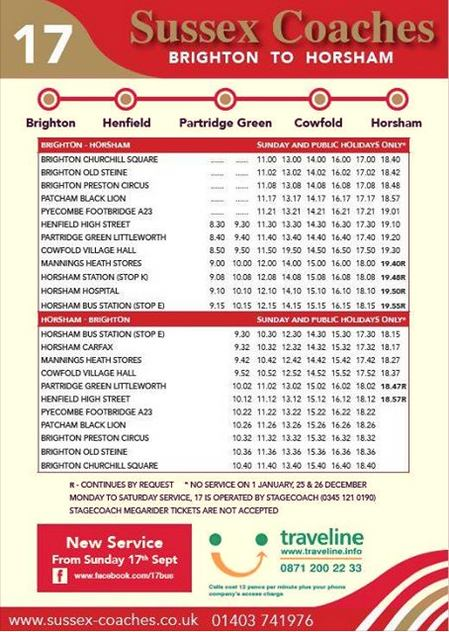 17 Bus Sunday Service