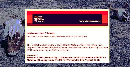 West Sussex heatwave