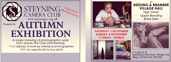 Steyning Camera Club Autumn Exhibition 2018