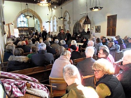 Congregation at St. Andrew's Edburton Sunday 18th Nov. 2018