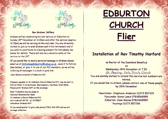 Edburton Church Flyer