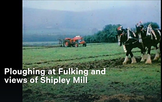 Ploughing at Fulking, 1969
